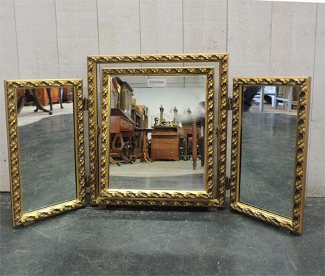 Les objets antiquites brocante vendus for Miroir 3 parties
